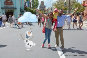 With Olaf at Hollywood Studios